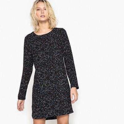 03f332f7350 Платье короткое прямое с рисунком и длинными рукавами La Redoute  Collections 350073775 фото